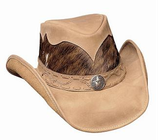 Bullhide Comanche Leather Hat in Tan