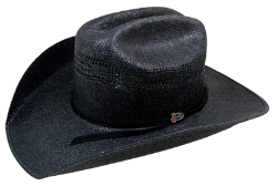 Justin 20X Cutter Black Straw Hat