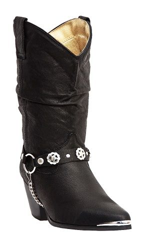Womens Dingo Boot Strap Slouch Boot Black