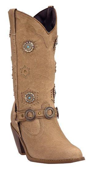 Womens Dingo Classic Retro Western Boots Chestnut