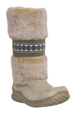 Womens Faux Shearling Dingo Boots Tan
