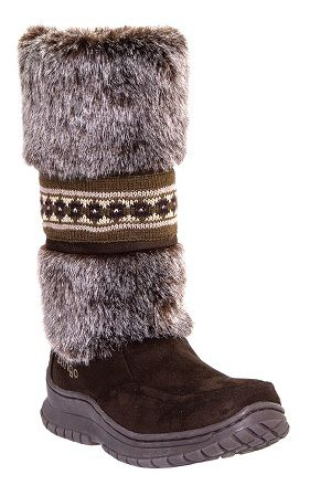 Womens Faux Shearling Dingo Boots Chocolate