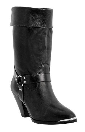 Womens Dingo Fashion Harness Boot Black