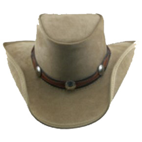 Driftwood Leather Hat