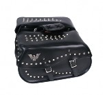Studded Saddle Bag with Eagle