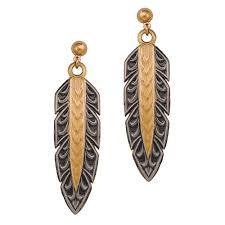 New Classics Hawk Feather Dangle Earrings (ER1011NCF)