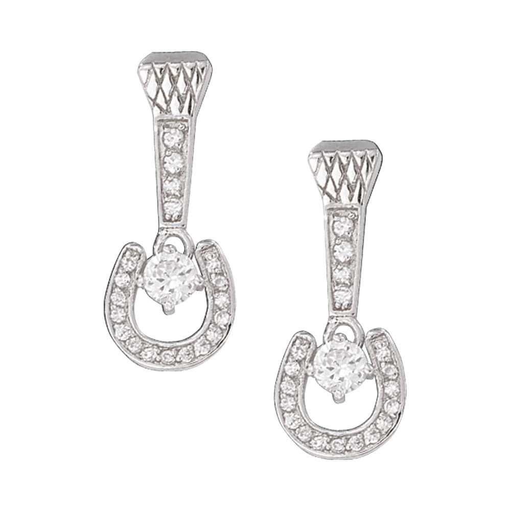 Crystal Horseshoe and Nail Drop Earrings (ER1035)