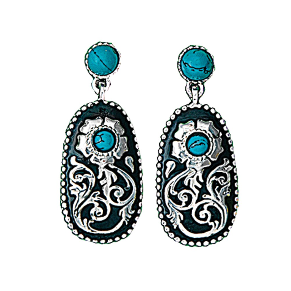 Turquoise Posy Drop Earrings (ER1466)