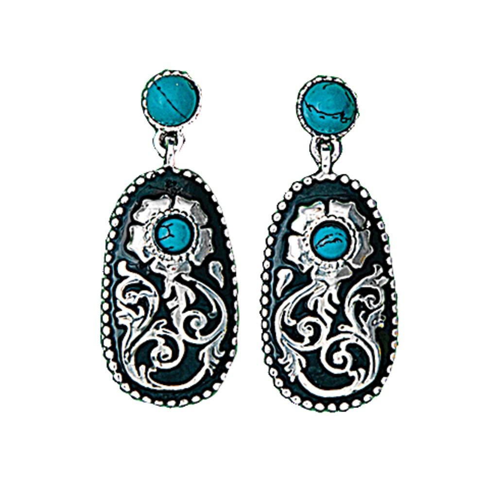 Turquoise Posy Drop Earrings (ER1466)