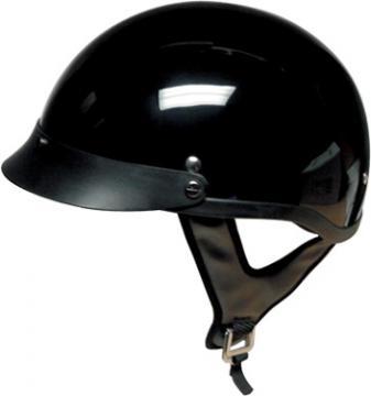 Gloss Black Half Helmet