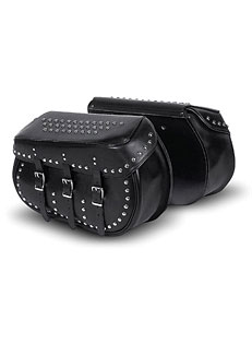 Leather Bolt-On Saddlebag w/Studs