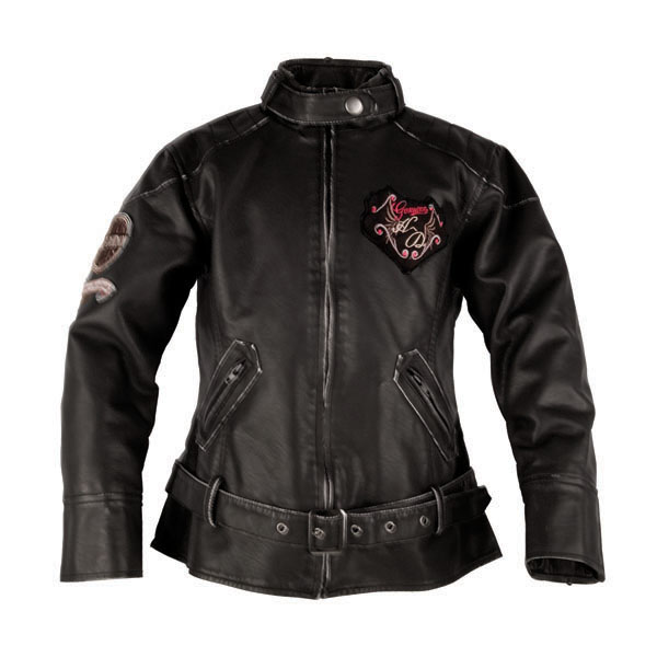 Harley-Davidson Girl's Outerwear Laundered P.U. Biker Jacket