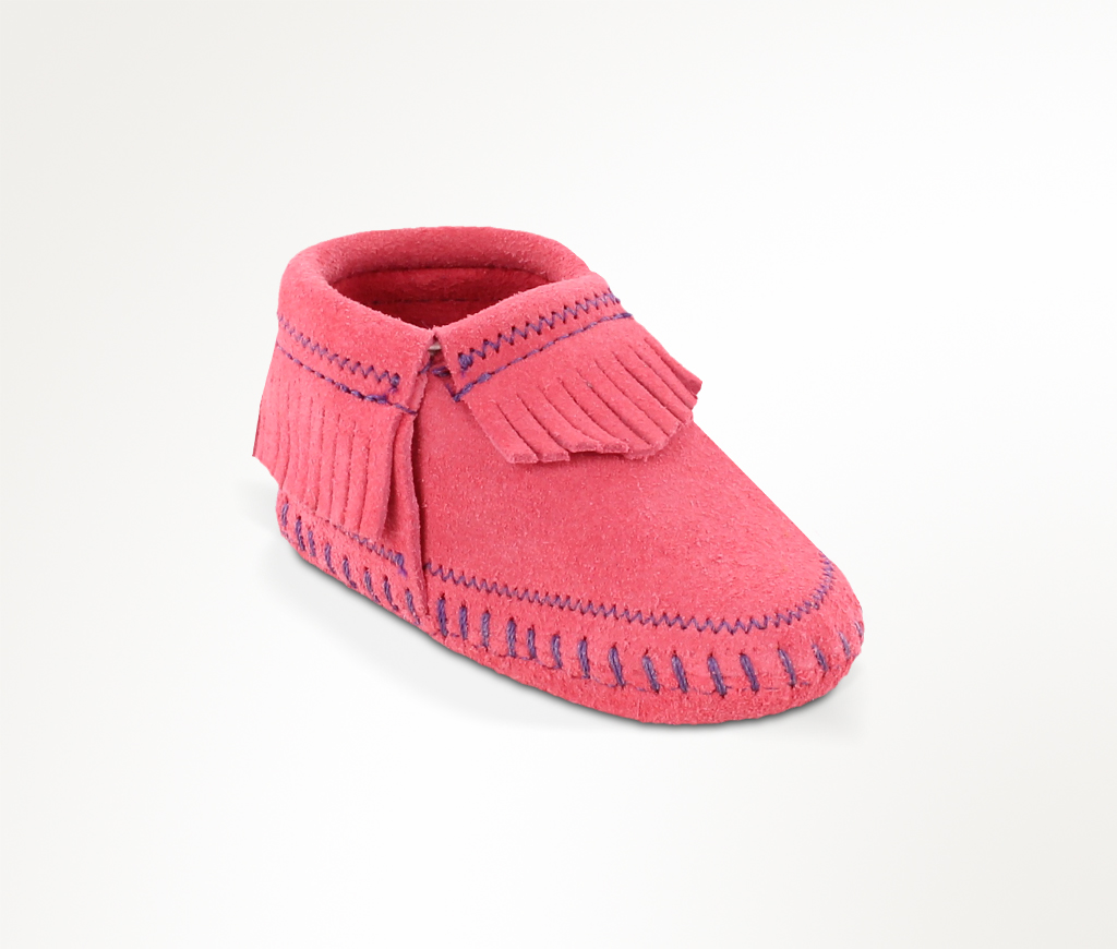 Infant Riley Hot Pink Suede Bootie