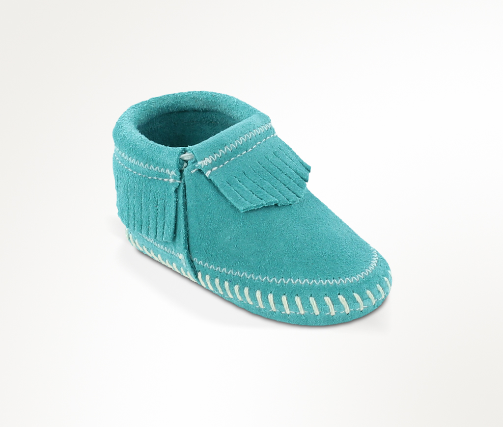 Infant Riley Turquoise Suede Bootie
