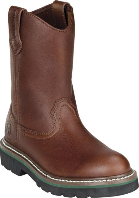 Kids John Deere Boots Brown Walnut