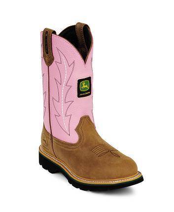 Ladies Pink John Deere Boots