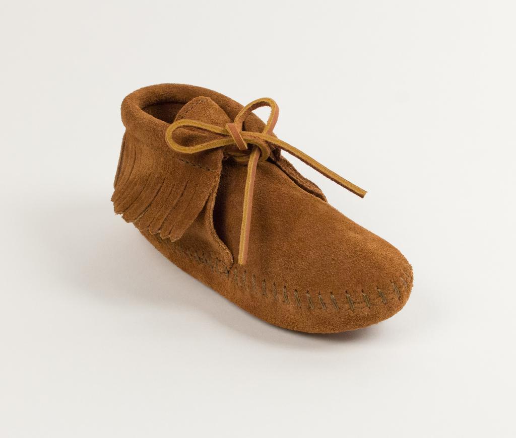 Children's Fringed Boot Brown