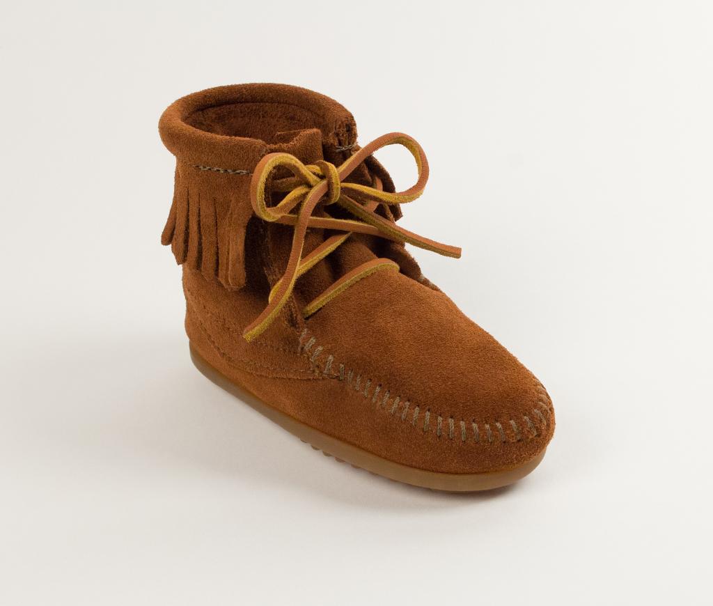 Minnetonka Child's Brown Suede Ankle Hi Tramper Boot