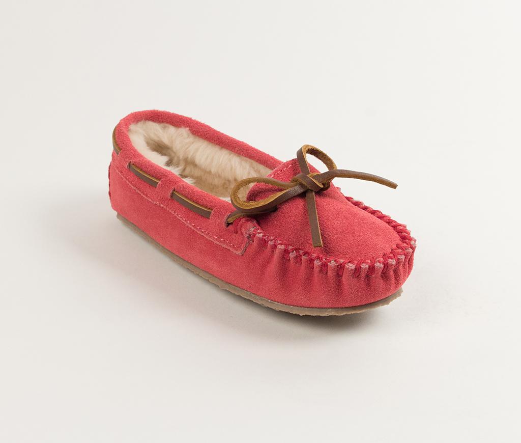 Children's Hot Pink Suede Cassie Slipper