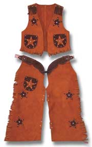 Kids Cowboy Chaps and Vest