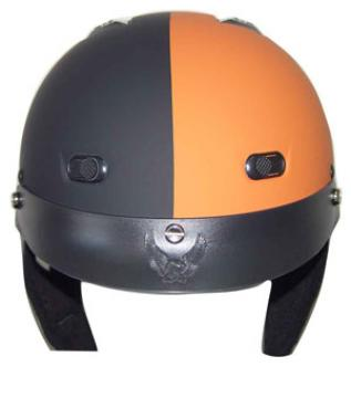 Matte Black/Orange Helmet