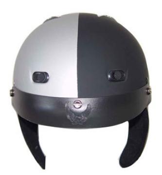 Matte Black/Silver Helmet