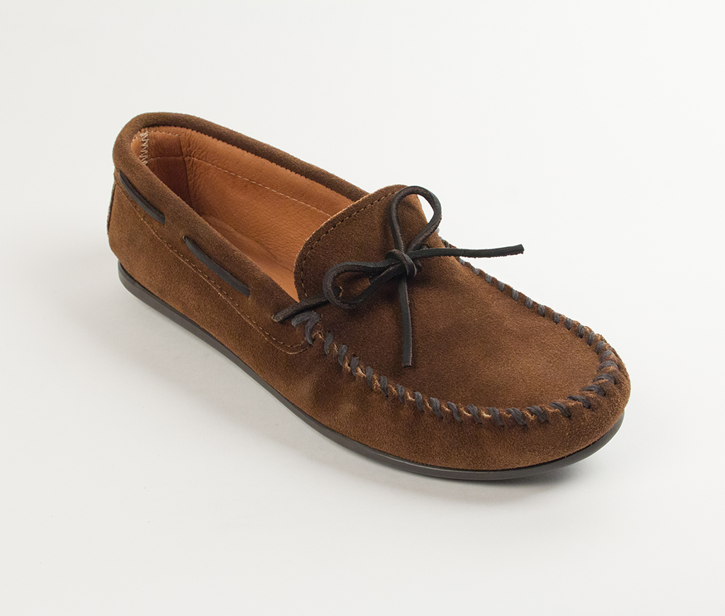 Men's Classic Moccasin Dusty Brown Suede