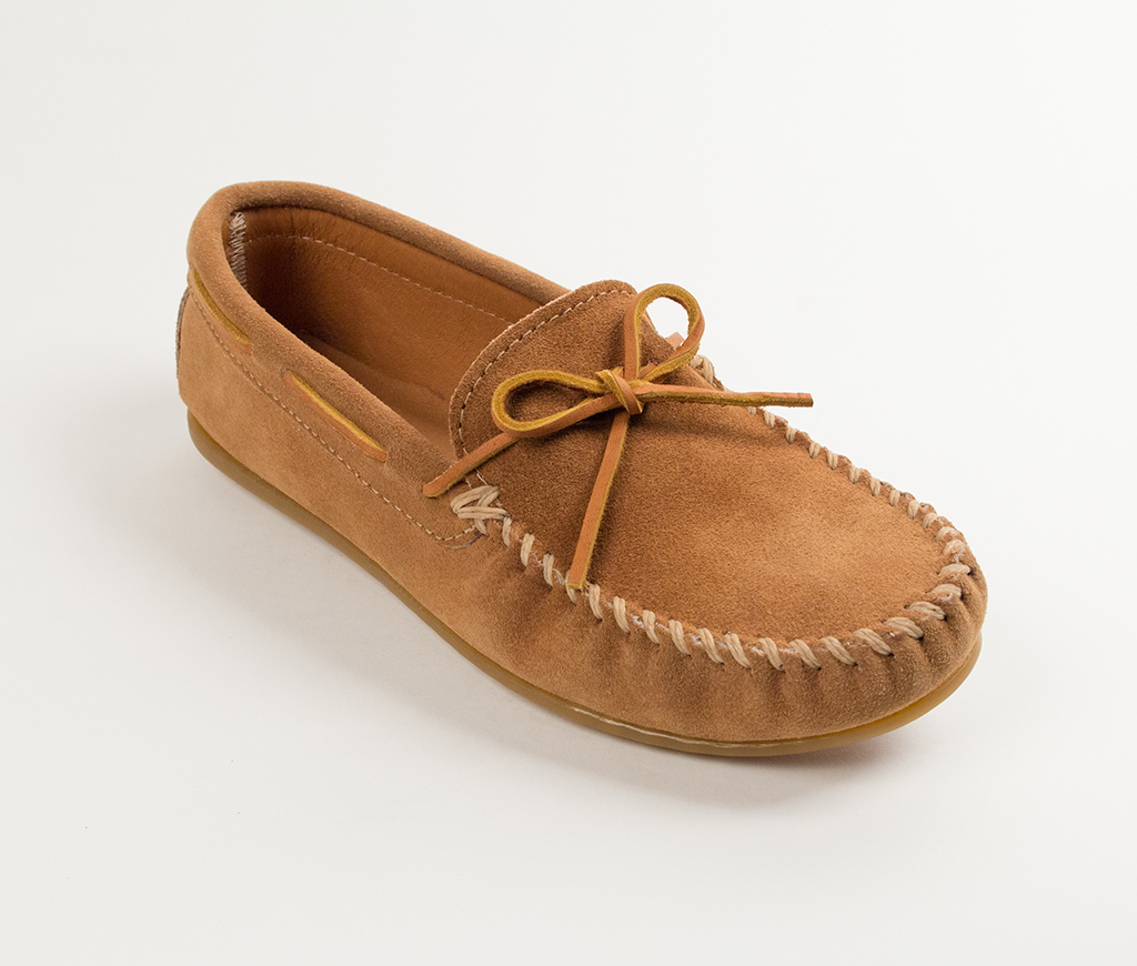 Men's Classic Moccasin Taupe Suede