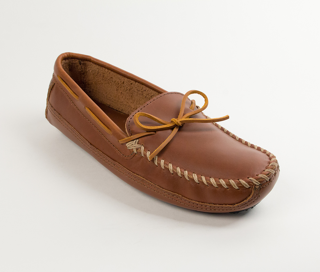 Mens Double Bottom Driving Moc Chestnut