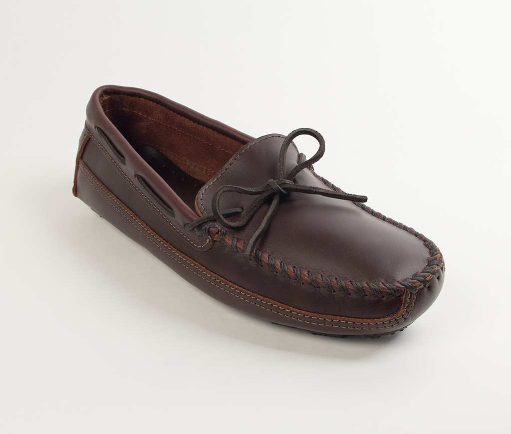 Men's Dark Brown Lariat Double Bottom Driving Moccasin