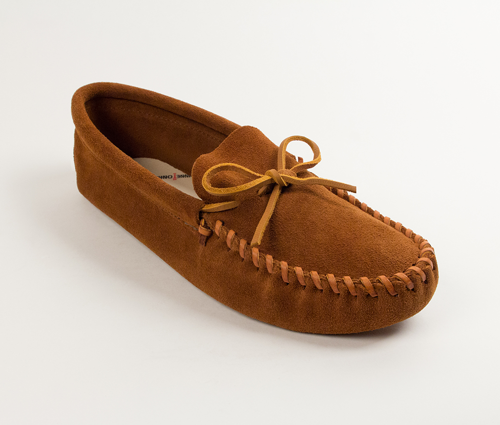 Mens Leather Laced Softsole Brown