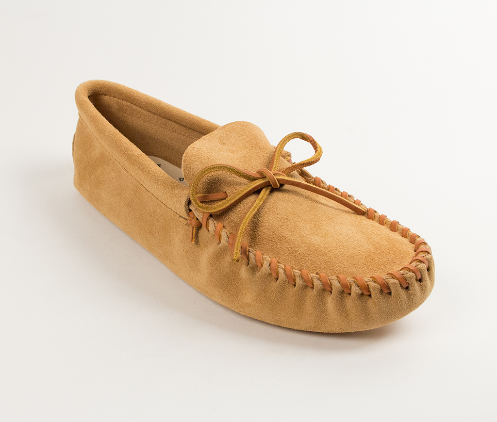 Mens Leather Laced Softsole Tan