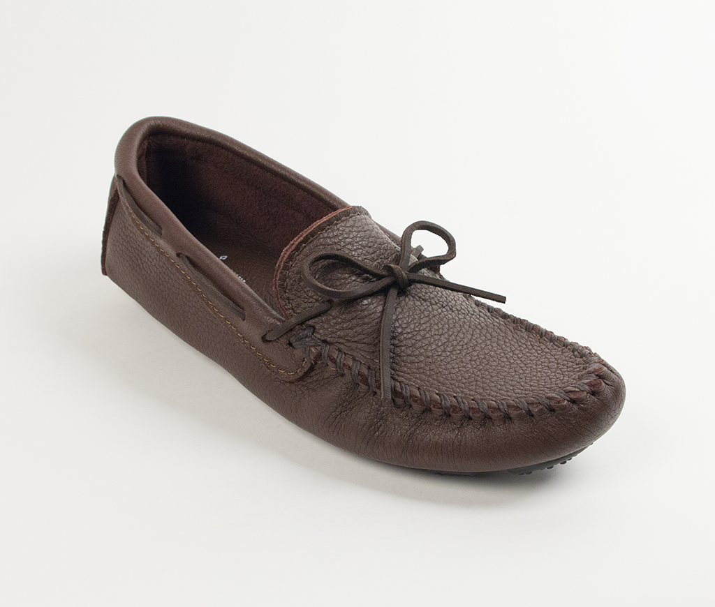 Men's Chocolate Moosehide Driving Moccasin