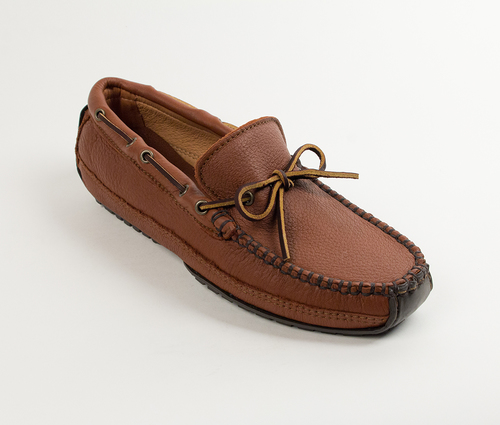 Mens Moosehide Weekend Moccasin Carmel
