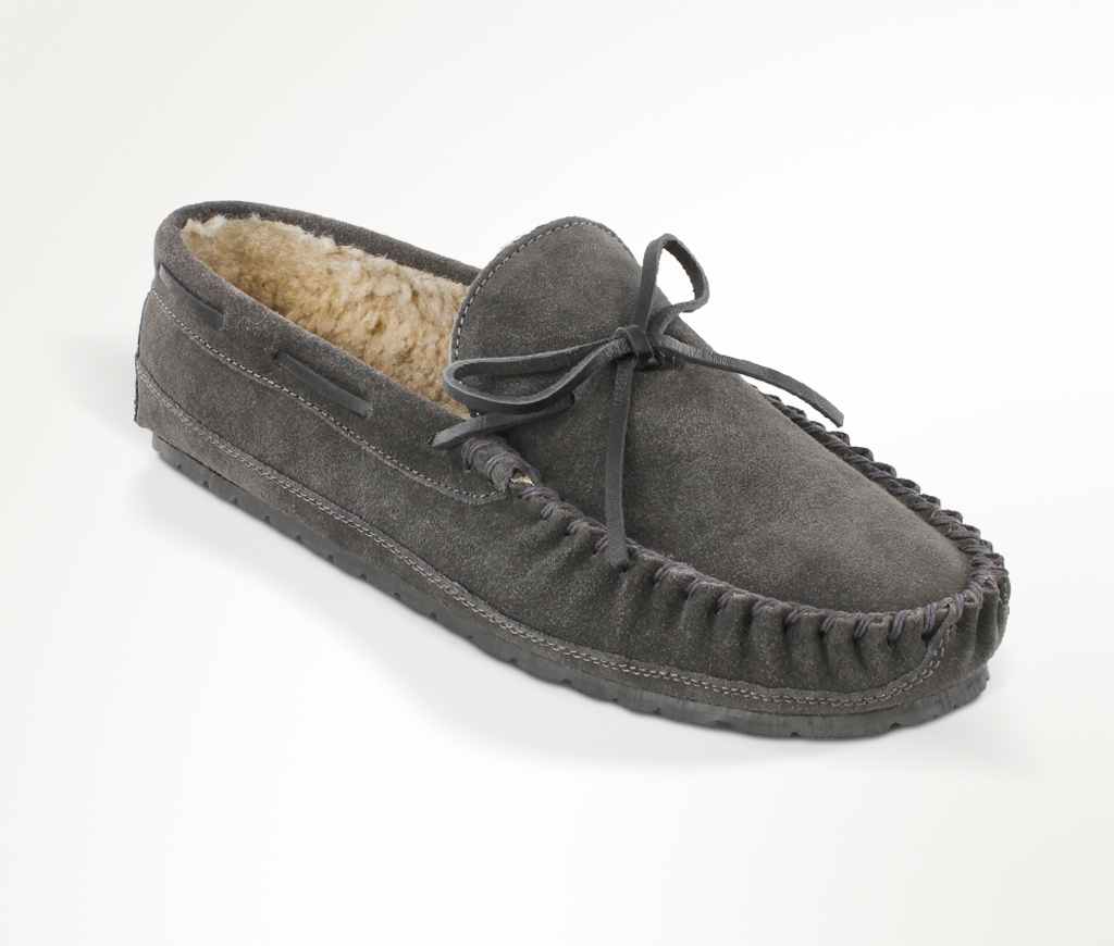 Men's Charcoal Suede Casey Slipper