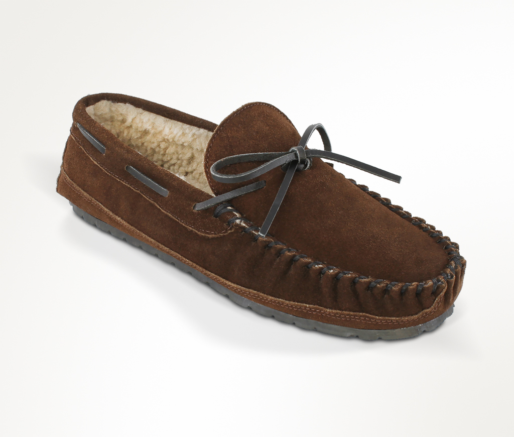 Men's Chocolate Suede Casey Slipper