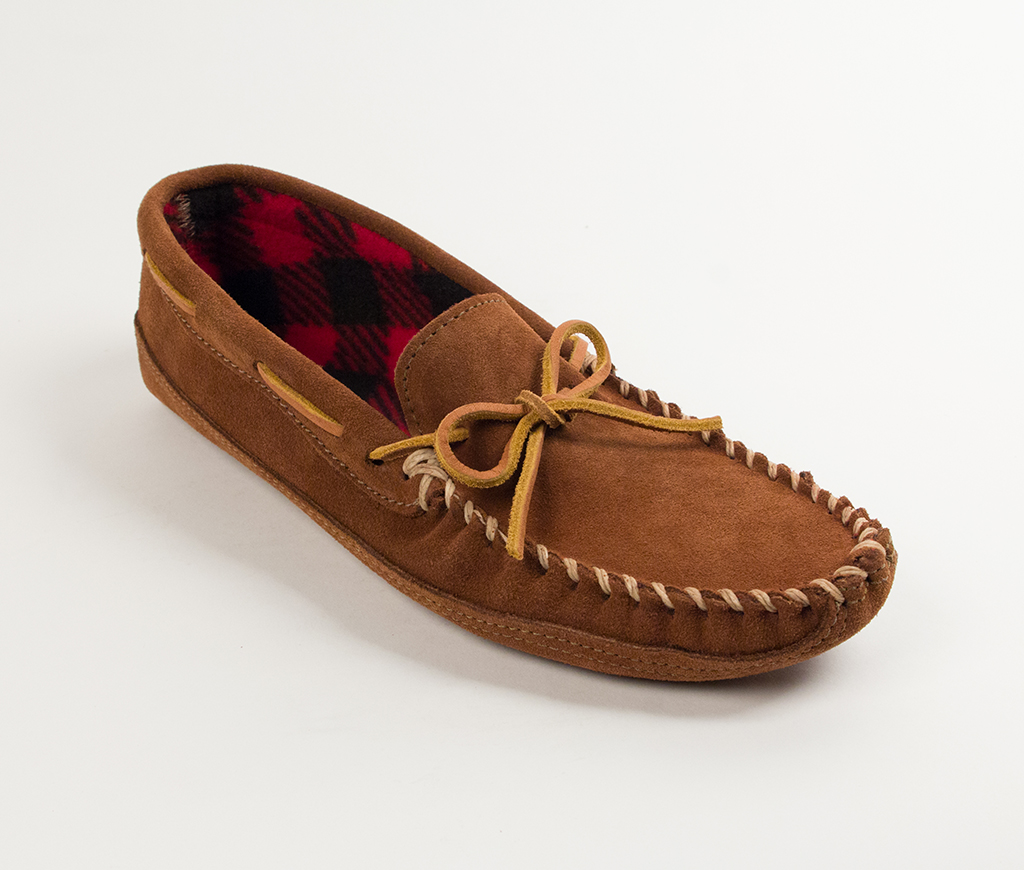Men's Brown Suede Fleece Lined Double Bottom Slipper