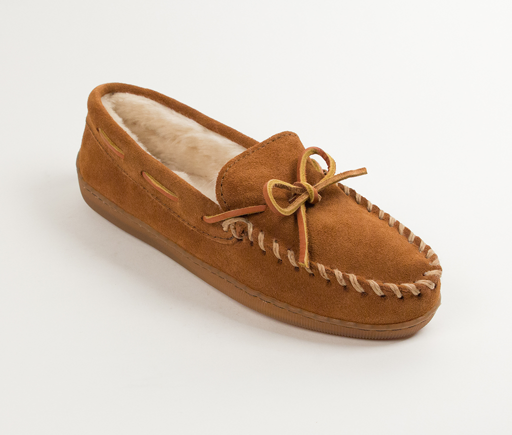 Mens Pile Lined Hardsole Brown Suede
