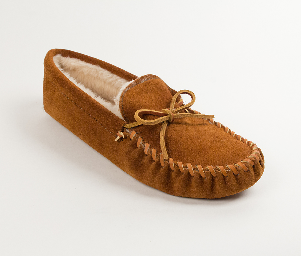 Men's Traditional Pile Lined Softsole Brown Suede