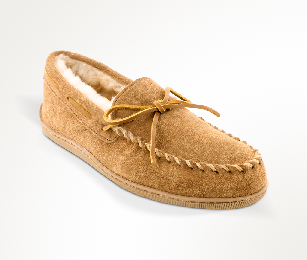 Men's Sheepskin Hardsole Golden Tan Slipper