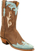 Womens Lucchese 1883 Antique Brown/Turquoise Boot