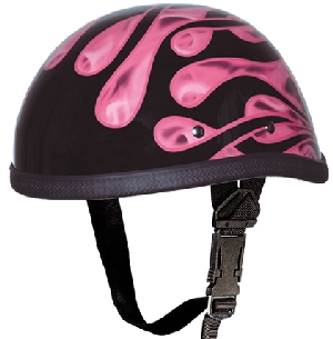 Pink Flame Novelty Helmet