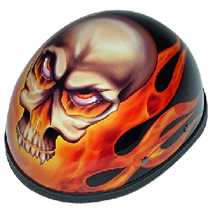Flaming Skull Novelty Helmet