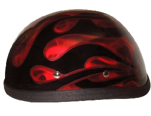 Red Flame Novelty Helmet