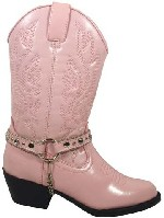 Smoky Boots Pink Bootstrap Cowgirl Boot Childrens