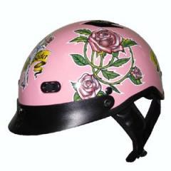 Pink Lady Rider Helmet