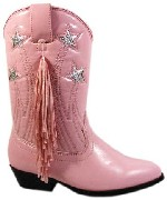 Smoky Boots Girls Pink Cowgirl Boots