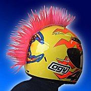 Pink Motorcycle Helmet Mohawk