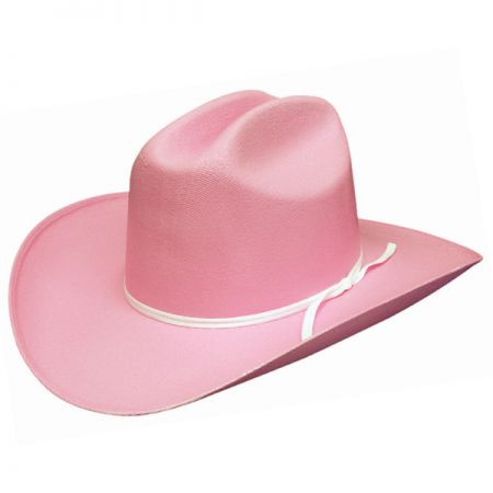 Kids Pink Canvas Straw Hat