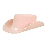Kids Pink Felt Hat Woody